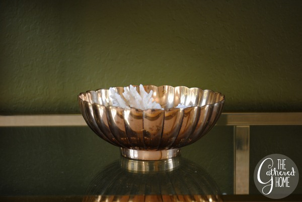 Fluted Brass Bowl