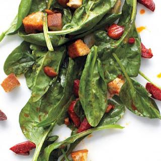 Warm Spinach and Chorizo Salad