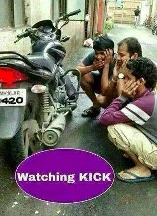 Watching Kick Funny Image