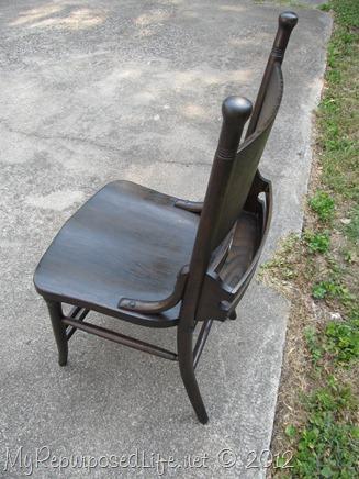 antique pew chair restoration (30)