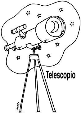 DIBUJOS DE TELESCOPIOS PARA COLOREAR