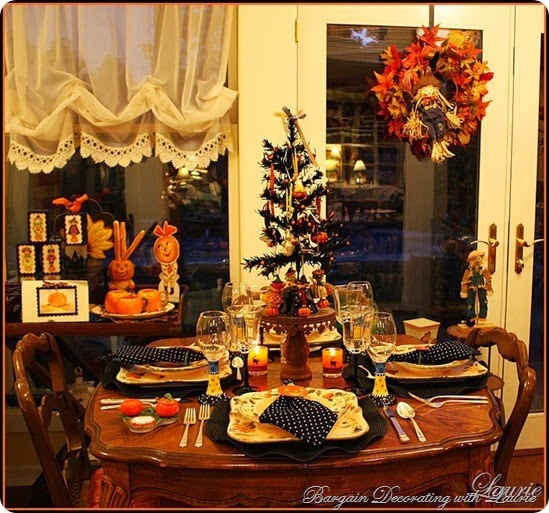 Halloween Tablescapes-Bargain Decorating with Laurie