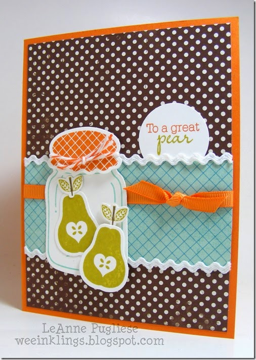 LeAnne Pugliese WeeInklings ColourQ254 Perfectly Preserved Great Pear Stampin Up