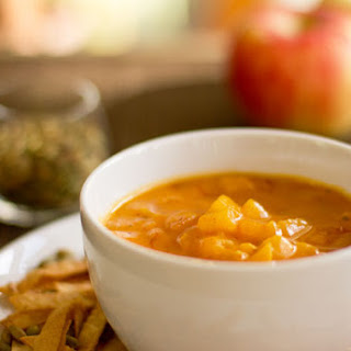Butternut Squash Soup with Apples and Red Chile