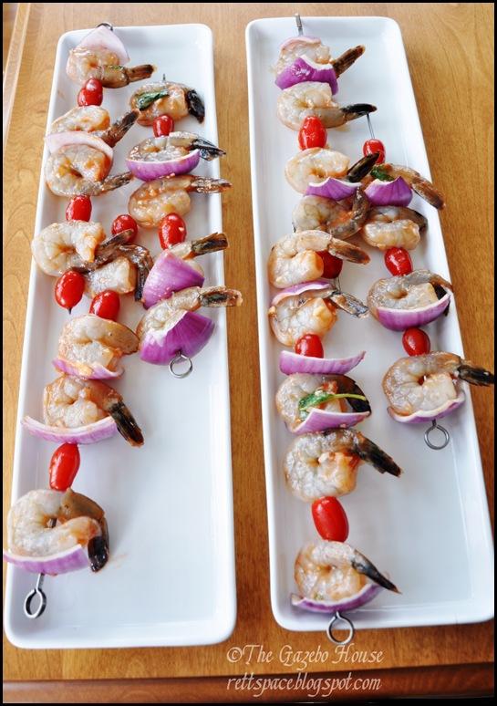 Grilled garlic shrimp & rice 001