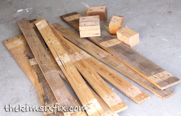 Reclaimed lumber from pallet