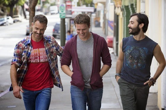 Murray Bartlett, Jonathan Groff and Frankie J. Alvarez in Looking