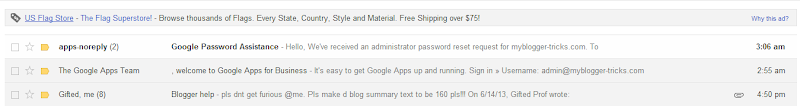 New Email From Google Apps Support