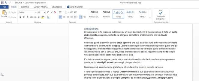 word-web-app-interfaccia