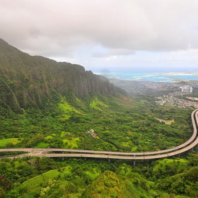 The H-3 Highway in Hawaii