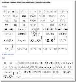Hinh: Emoticones para Facebook, Twitter y chats