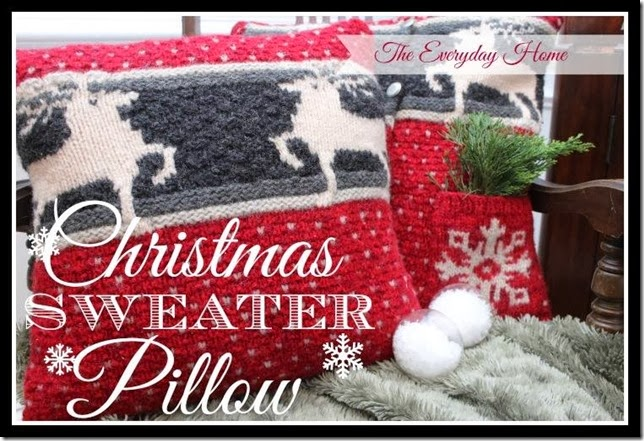 The Everyday Home Christmas Sweater Pillow