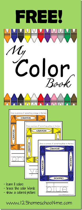 My Color Book #toddler #preschool #colors