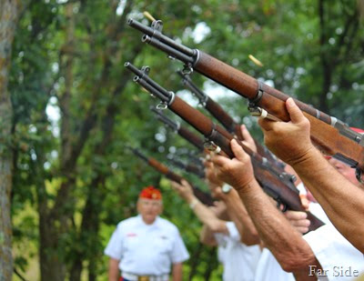 The rifle salute