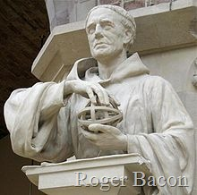 Statue of Roger Bacon in the Oxford University