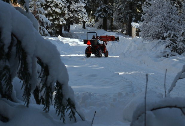 Mo is still plowing, although it is getting harder for find a place to put it all