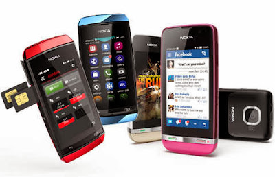 Nokia asha full touch handphone keren harga murah