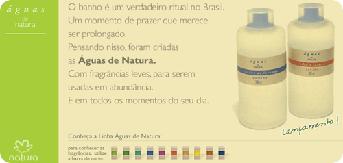 Home do site Águas de Natura (2004)