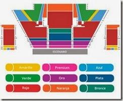 Mapa de asientos disponibles para Cavalia Odysseo Carpa Santa Fe