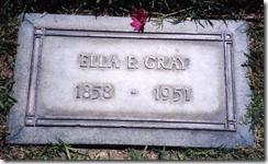 Ella Engle's Grave Marker