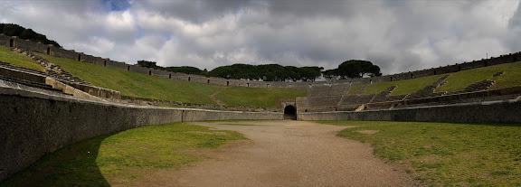 Antigua ciudad romana de Pompeia. Amfiteatre. Pompeia, Itàlia