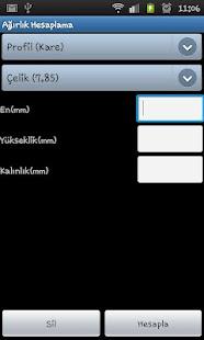 Ağırlık Hesaplama - screenshot thumbnail
