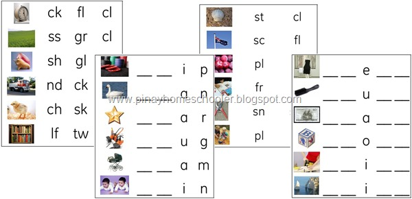 Consonant Blends Activity Sheets