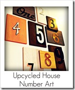upcycled house number art