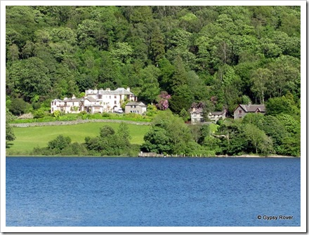 Country houses across Lake Coniston.