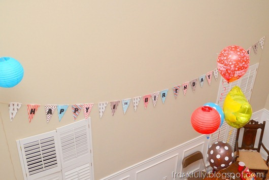 the huge happy birthday bunting!
