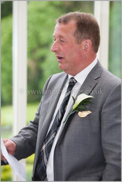 father of the bride speech wedding in landmark hotel dundee