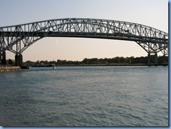 3676 Ontario Sarnia - Blue Water Bridge over St Clair River - Spartan tugboat pushing a barge