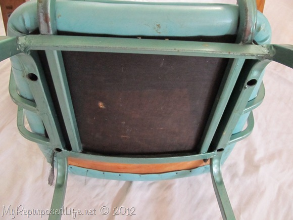 vintage metal rocking chair (6)