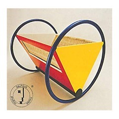 Peter Keler Bauhaus - Cradle - Blue  yellow - red and white lacquered