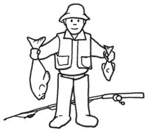 Dibujo Pescador Para Colorear E Imprimir