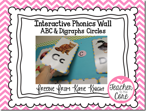Freebie Circle Letters for an interactive phonics wall