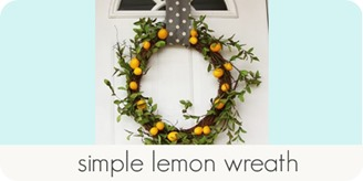 simple lemon wreath
