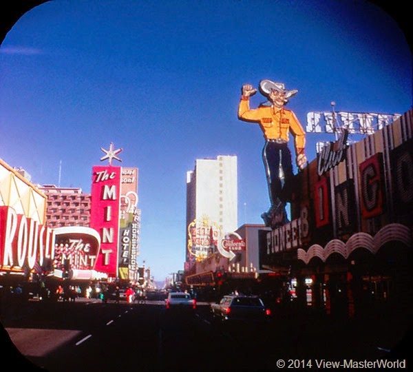 View-Master Las Vegas Nevada A159 Scene 1-2 Freemont Street by day