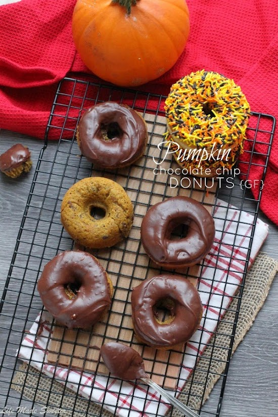 Baked Pumpkin Chocolate Chip Donuts {gf} @LifeMadeSweeter.jpg