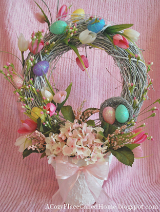 Easter Wreath Topiary