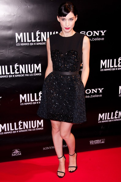 Rooney Mara attends the Millenium The Girl With The Dragon Tatoo Paris Premiere