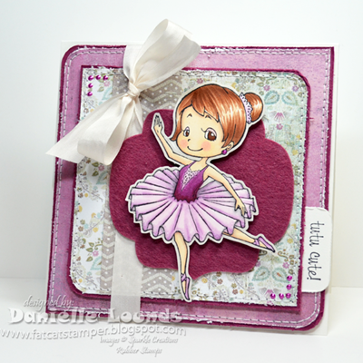Fat Cat Stamper Sparkle Creations Release Day Ballerina Ruby