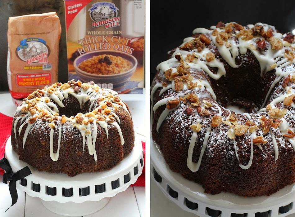 Maple Glazed Gingerbread Bundt Cake with Oat Streusel with @HodgsonMill #sponsored --- Recipe by @LifeMadeSweeter.jpg