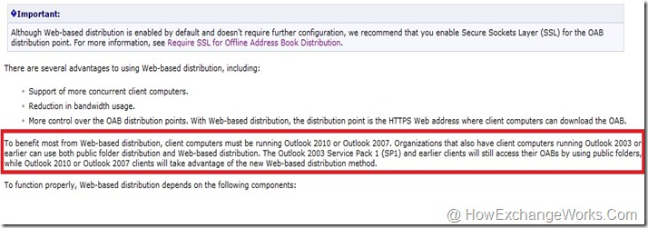 Can Outlook 2003 Use Web Based OAB Distribution In Exchange 2010… -