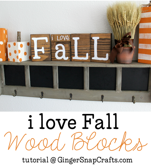 I love Fall Wood Blocks tutorial at GingerSnapCrafts.com #fall #wood #vinyl #SilhouettePortrait