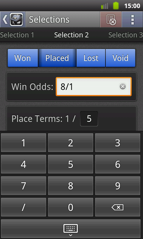 Sports Bet Calculator- screenshot