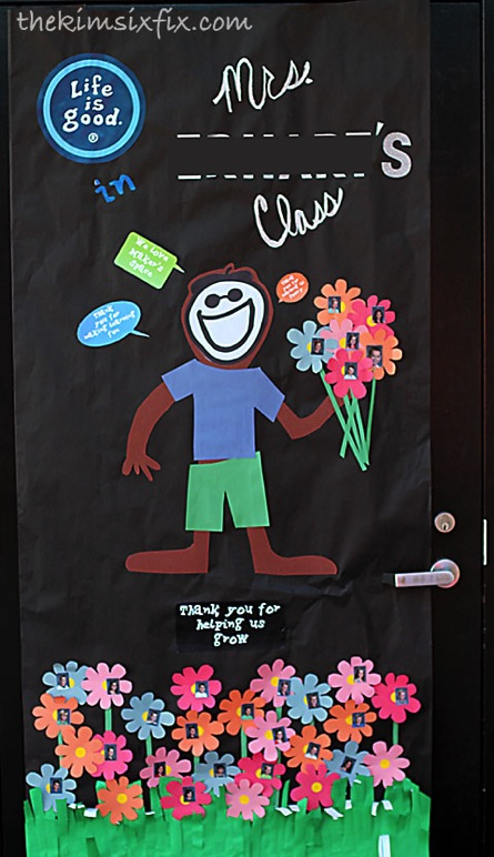 Life is Good teacher door