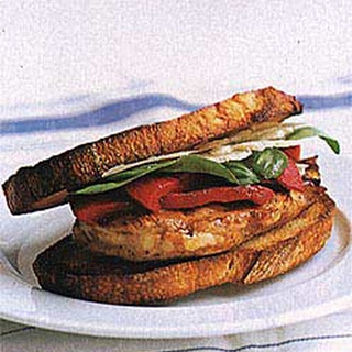 Broiled Chicken and Roasted Pepper Sandwiches