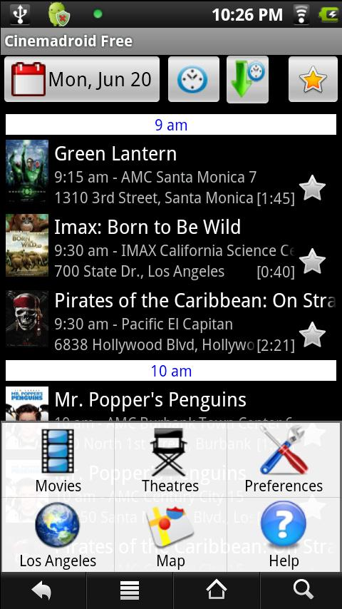Cinemadroid Free USA Canada UK- screenshot