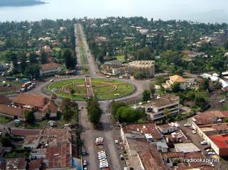 Vue de la ville de Goma.al